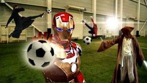 Ini Yang Berlaku Bila Super Hero Gunakan Kuasa Untuk Bermain Bola Sepak