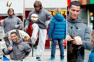 Cristiano Ronaldo Menyamar Sebagai Penghibur Jalanan Di Madrid