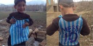 Budak Mangsa Perang Yang Pakai Jersi Messi Dari Plastik Telah Dijumpai