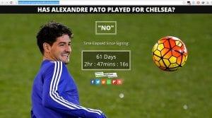 Penyokong Chelsea Buat Laman Web 'Has Alexandre Pato Played For Chelsea Yet?'