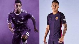 Real Madrid & Barcelona Perkenal Jersi Away Warna Sama Pada Hari Yang Sama