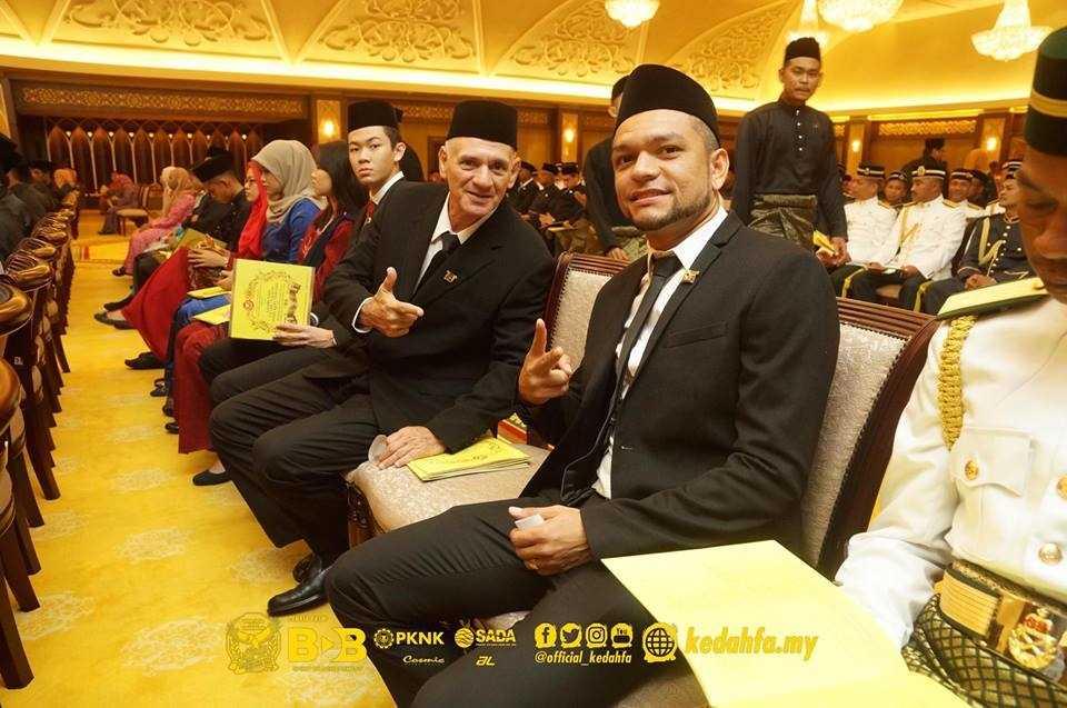 Skuad Piala Malaysia 2016 Kedah, Faiz Subri Terima Darjah Kebesaran Kedah