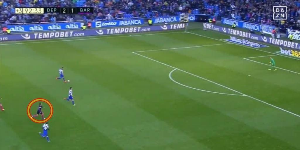 Video: Jauhnya Jordi Alba Berlari Demi Menghalang Gol Ke-3 Deportivo