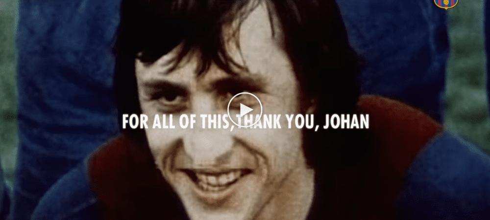 Barcelona Hasilkan Video Penghargaan Penuh Perasaan Untuk Lagenda Johan Cruyff