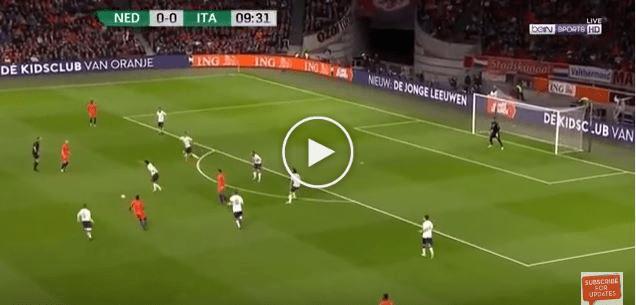 Persahabatan Antarabangsa: Belanda 1 Itali 2, Semua Gol Dihasilkan Pemain Itali