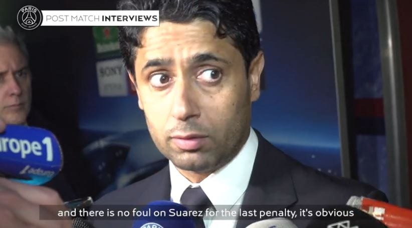 Nasser Al Khelaifi Terkejut Dengan Kekalahan PSG, Sempat Sindir Mutu Pengadilan