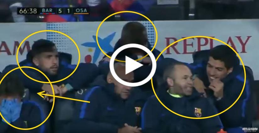 Video: Reaksi Di Bangku Simpanan Barcelona Ketika Mascherano Ambil Penalti