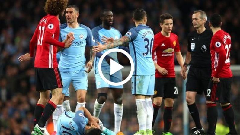 Highlight: Man. City 0 Man. United 0, Fellaini Dibuang Padang