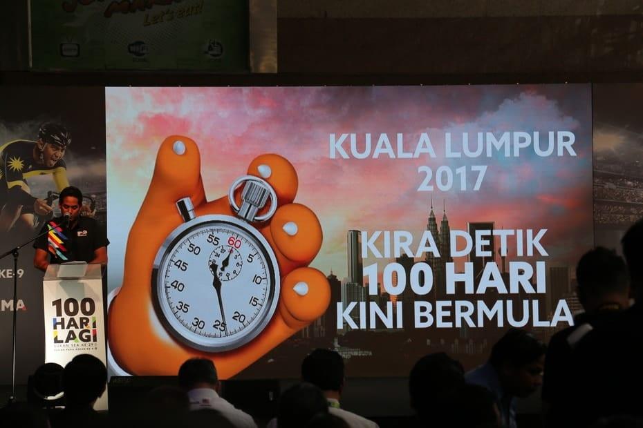 Kiraan Detik 100 Hari Ke Sukan SEA Kuala Lumpur 2017 Bermula