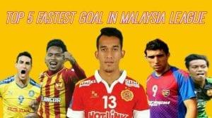 5 Gol Terpantas Dalam Liga Malaysia
