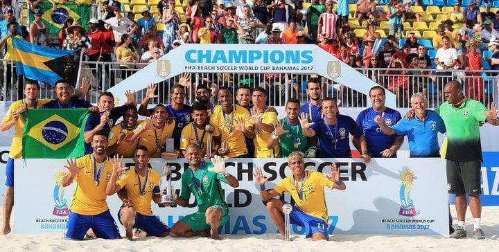 Piala Dunia Bola Sepak Pantai: Brazil Akhiri Kemarau Kejuaraan, Iran Benam Itali