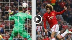 Highlight: Man. United 1 Celta 1(Agg. 2-1), Tandukan Final Fellaini