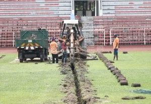 Stadium Perak Alami Perubahan, Proses Baik Pulih Padang Giat Dijalankan