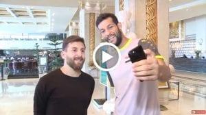 Messi Iran Bertemu Pemain-Pemain Iraq