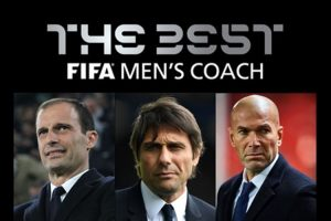 Conte, Zidane, Allegri Finalis Anugerah Jurulatih Terbaik FIFA 2017