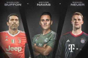 Buffon, Neuer Dan Navas Finalis Anugerah Penjaga Gol Terbaik FIFA 2017